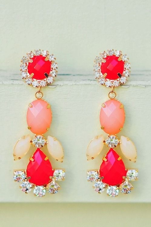 LOVE!!!!!! #want #love #pinkish #red #earrings #awesome #beautiful #amazing