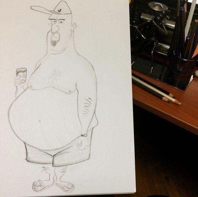 Man draw