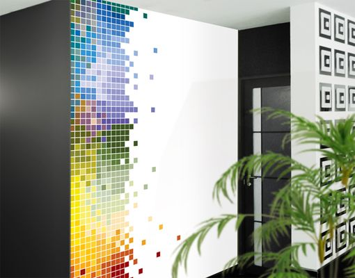 Photo Wall Mural Colourful Pixel Wallpaper Wall Art Wall