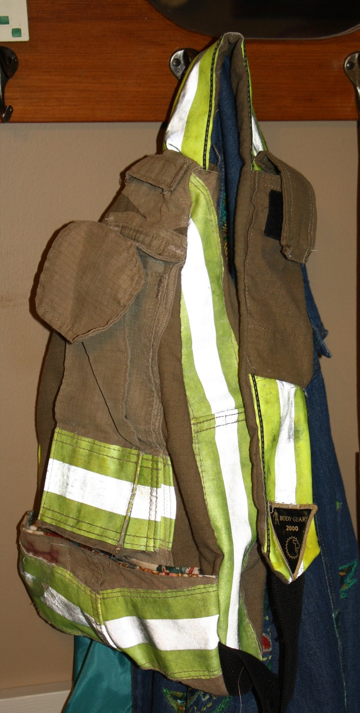 Recycled bunker gear bags - Well The Chief At The Vol Fire Station Wanted A Turnout Bag She Had