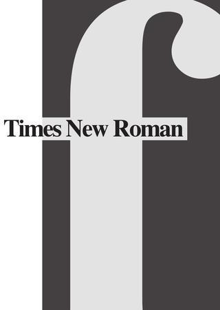 Times New Roman Booklet - Opdracht grafische vormgeving 1