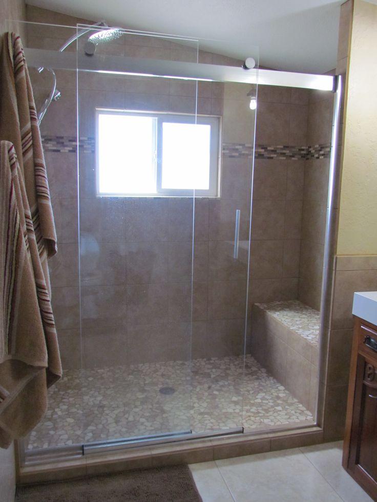 Shower Tile Mix : Mixed quartz mosaic tile shower pan images