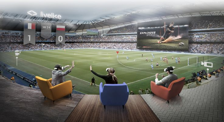Virtual reality stadium lets distant friends watch the game together