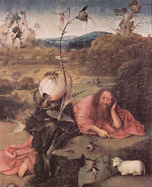 "aesza: "" Bosch, Hieronymus - Meditierender Hl. Johannes der Täufer by ros_with_a_prince on Flickr. Bosch, Hieronymus - Meditierender Hl. Johannes der Täufer """