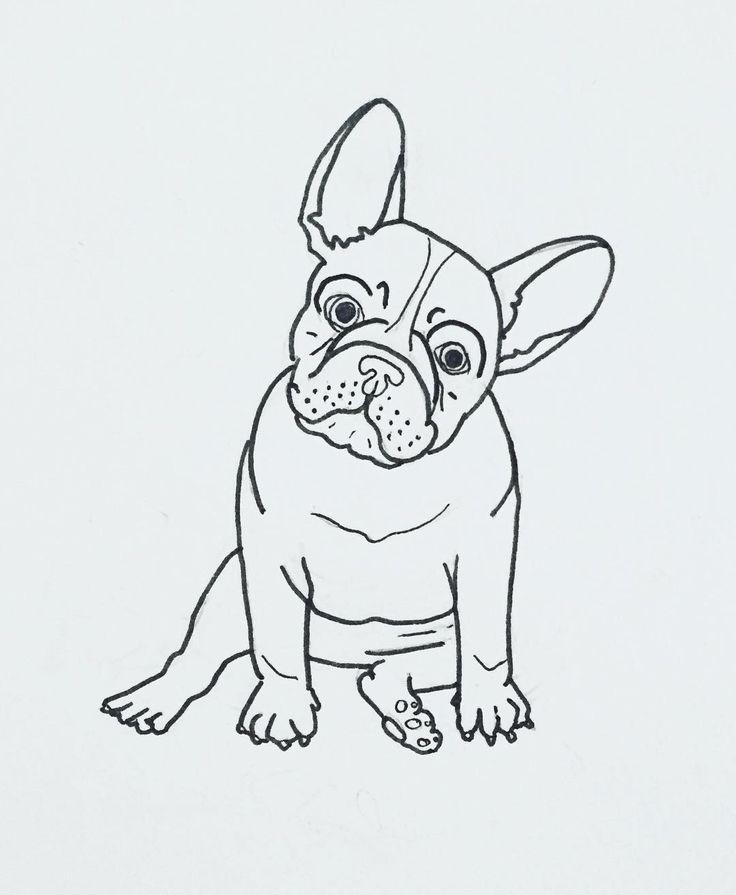 "French Bulldog ""Frenchie"" illustration by, @thepapermama."