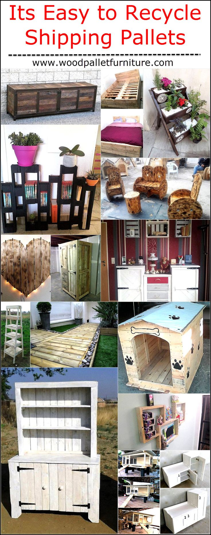 Wooden transport pallets have become increasingly popular for diy - Recyclable Products Are Always Attractive And Are The Best Ideas That People Can Do Wooden