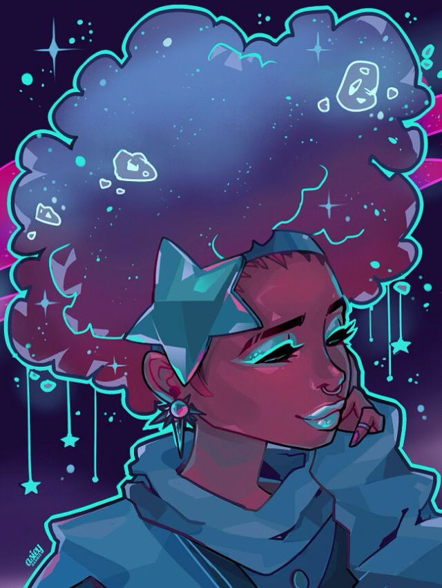 space girl (credit to the artist from tumblr) | Concept ...