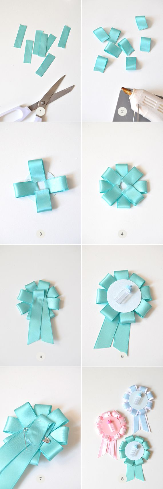 DIY: Gender-Reveal Baby Shower Pins