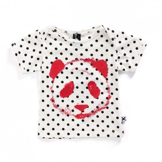 Minti Baby Tee Painted Panda - Polkadot - Minti - Shop by Brand - Ragamuffins New Zealand
