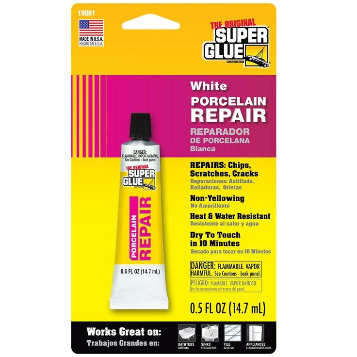 Super Glue 0.5 fl. oz. White Porcelain Repair