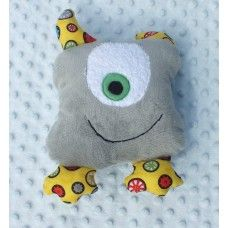 """Huggler"" Grey friendly monster"