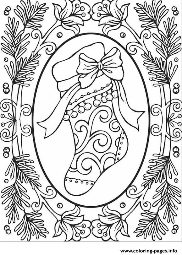 Print Christmas Adults 2 Coloring Pages
