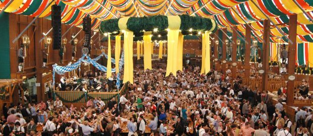 Oktoberfest: Reserving seats in a beer tent