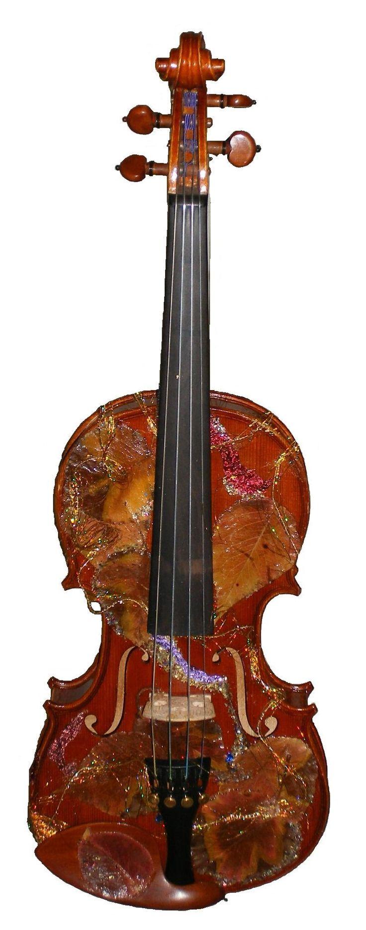 Old wood minerale interior of violin - Violin