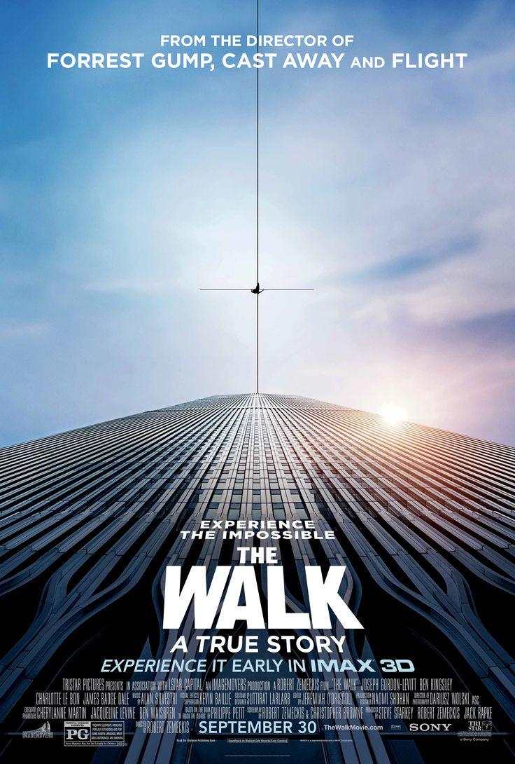 The Walk (2015), baseado em fatos reais, a história do equilibrista que atravessou o vão das torres gêmeas do WTC, aventura.