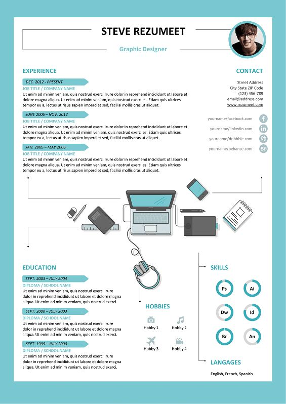 26 best Modern \ Creative resume templates images on Pinterest - free resume templets