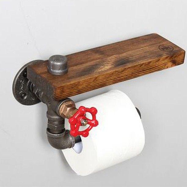 Идея 965.💡👆Держатель туалетной бумаги из водопроводных труб с полочкой из массива и вентилем.  ЦЕНА *10 000 руб.  26-27 октября мы принимаем участие в выставке Furniture Furniture mARkeT, АртПлей, Малый зал. Приходите!  Ставим❤и подписываемся! #homeloftидеи #homeloftideas #moscow #москва #красиво #homeloftstudio #loft #design #interiordesign #interior #decoration #plumbingpipes #furniture #diy #pipes #modernthings #plywood #лофт #дизайн #дизайнинтерьера #мебель #своимируками #модныевещи…