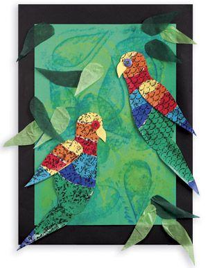 Australian Wildlife Lorikeets art project