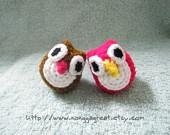Mini crochet owls...CUTE,