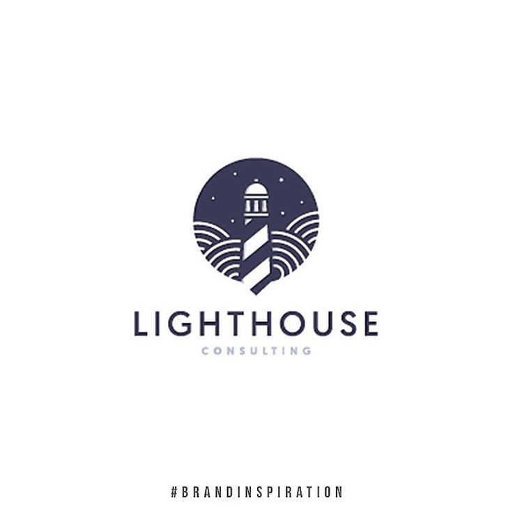 Beautiful lighthouse logo design - lots of churches have 'lighthouse' in their name - this is a great literal depiction of a name without being patronising to your audience.