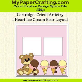 Cricut Artistry Cartridge Bear Paper Piecing.