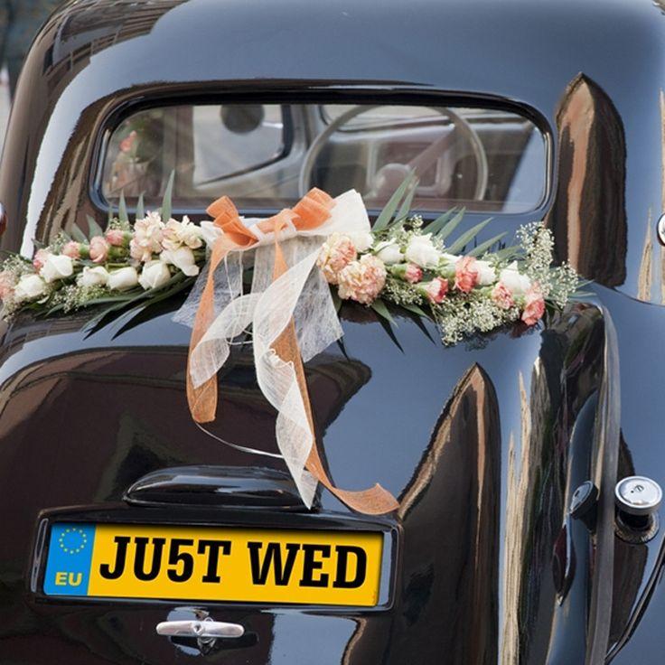 JU5T WED Wedding Number Plate