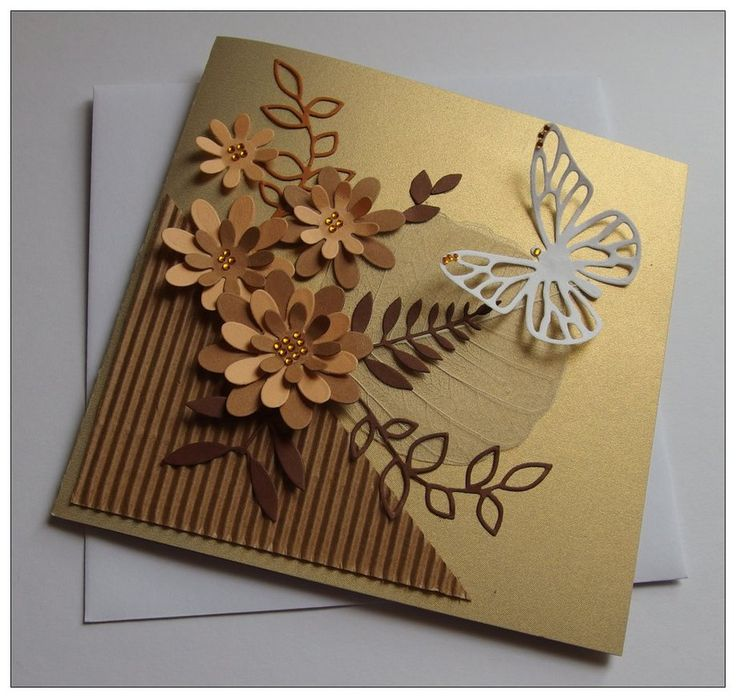 Gold greeting card by Xantosia
