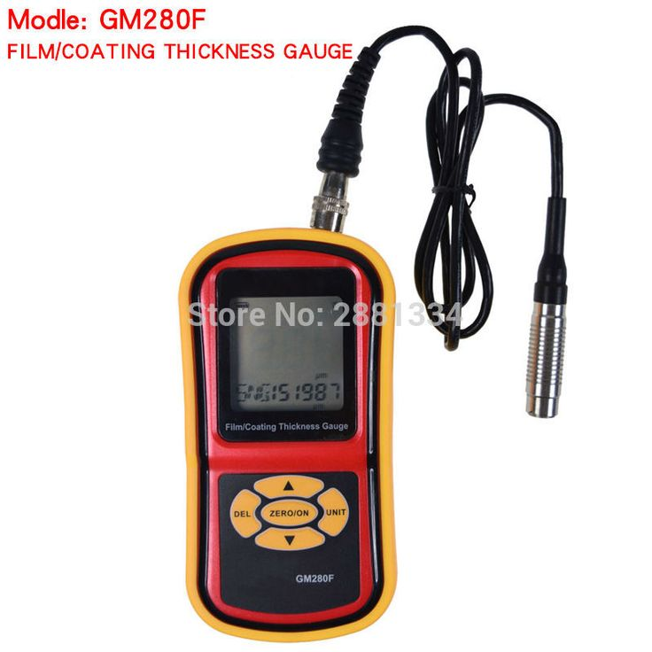 Hight quality GM280F Magnetic eddy current filmpaint thickness gauge galvanizing film thickness gauge tester