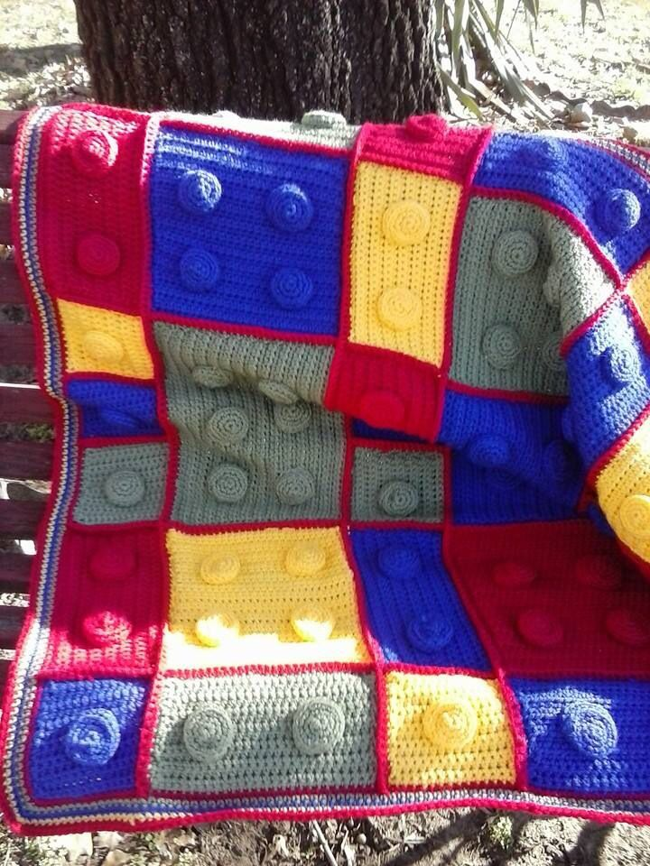 Lego blanket Crochet afghans Pinterest Lego and Blankets