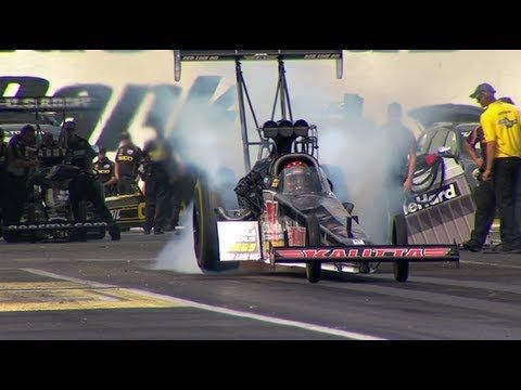 "How a Top Fuel Dragster Works - Popular Mechanics and Car and Driver teamed up with Kalitta Motorsports, Optima Batteries and David Grubnic for a segment called ""How'd They Do That?"" about how an 8,000-horsepower NHRA Top Fuel dragster works and what it takes to go 1,000 ft. in less than 3.9 seconds at over 320 mph!"
