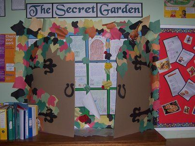 The Secret Garden Display, classroom displays, class display, secret garden, story, book, gate, hidden, Early Years (EYFS), KS1  KS2 Primary Resources