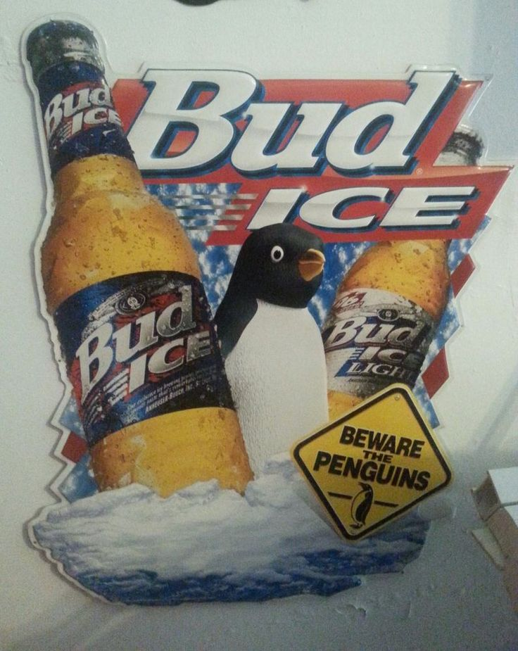 Budweiser Beware The Penguins Beer Sign Dream Home