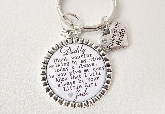 FATHER+of+the+BRIDE+Personalized+Dad+Keychain+by+MyBlueSnowflake,+$16.50