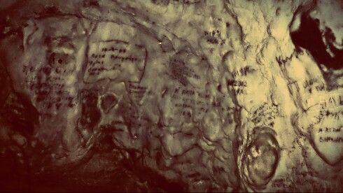 old cave handwritings