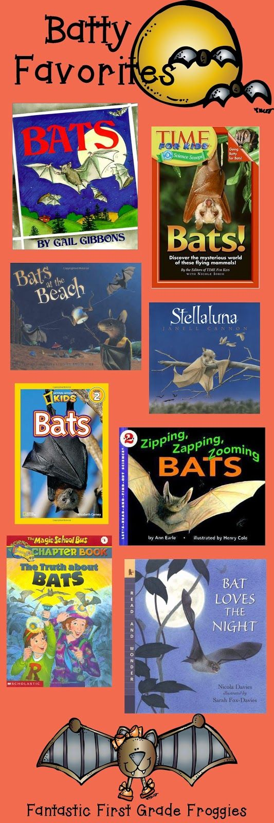 Going Batty Over Books- favorite bat books
