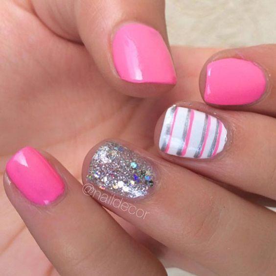 awesome 80 Nail Designs for Short Nails JeweBlog