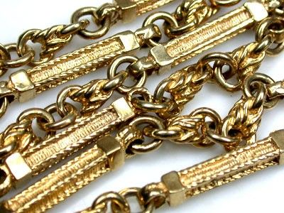 HEAVY 9 K GOLD  CHAIN, 50 CM LONG 34.5  GRAMS L342 gold chain , gold jewelry , chain
