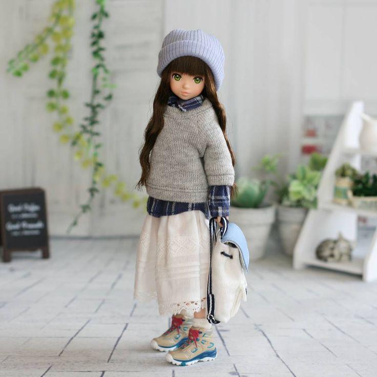 294 отметок «Нравится», 10 комментариев — yoshino (@skipandhumming) в Instagram: «男の子デニムセットのシャツ&プルオーバー+白キャミセットのスカート+別売りのリュック&ニット帽のセット♪ このコーデ、お気に入りです(*^^*) #ruruko#rurukodoll…»