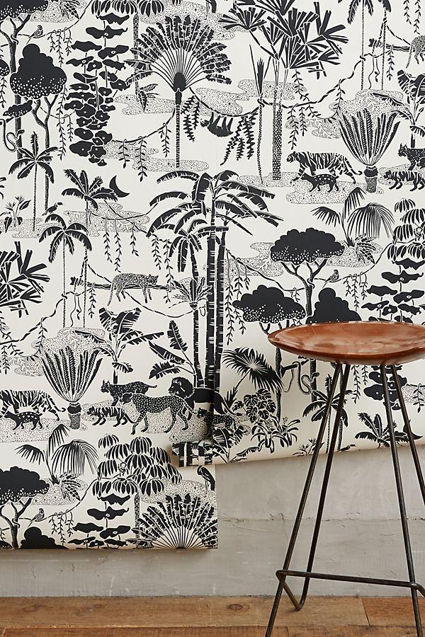 Jungle Dream Wallpaper by Aimee Wilder in Beige, Wall