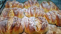 Croissant com Creme e Amêndoa