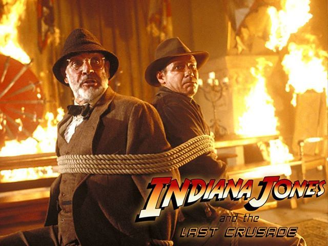 "Henry Jones Sr. (Sean Connery) & Henry ""Indiana"" Jones Jr. (Harrison Ford) - Indiana Jones and the Last Crusade (1989)"