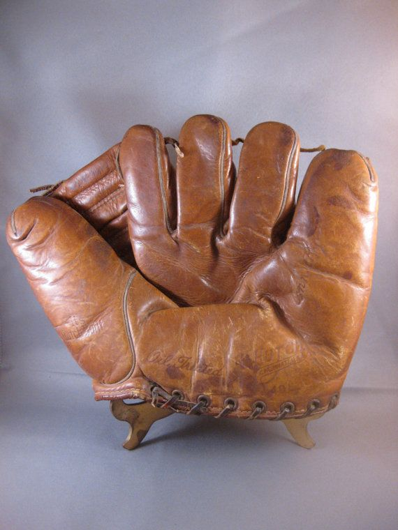 Vintage 1940s baseball glove. For Nate's man-cave some day!