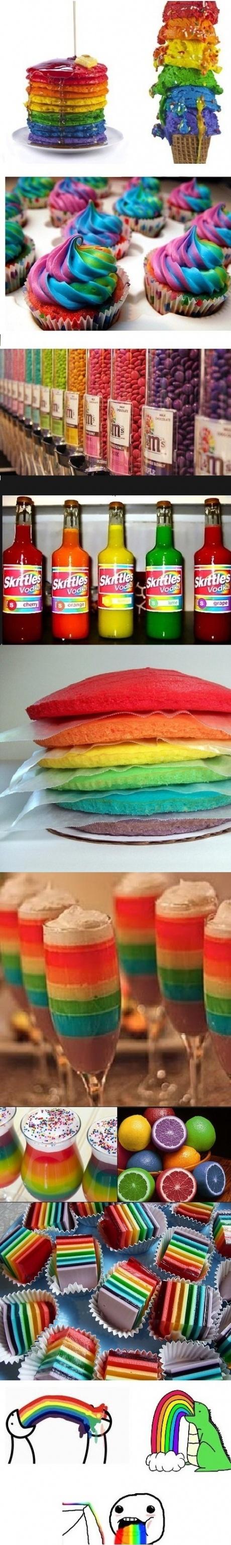 I love rainbow food...