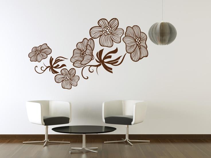 Le kit de stickers fleurs exotiques est une composition légère de grande taille qui semble senvoler sur votre mur et qui apportera un côté frais à votre
