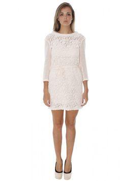 Vestito bianco di lana boards