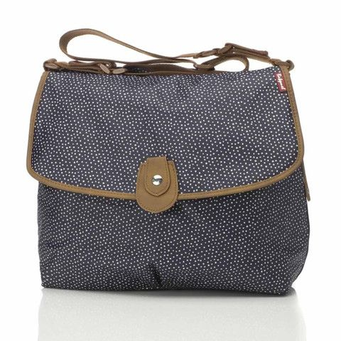 Changing Bags - Babymel Changing Bag - Satchel - Mini Dot Navy