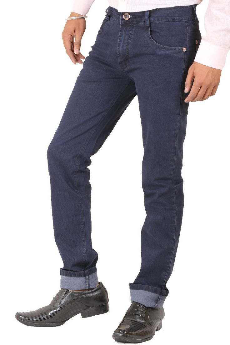 http://tinyurl.com/zapld5p Buy Online Exclusive & Branded LA-MARINO Navy Blue Silky Denim Jeans For Men Lowest Prices only on GetAbhi.com