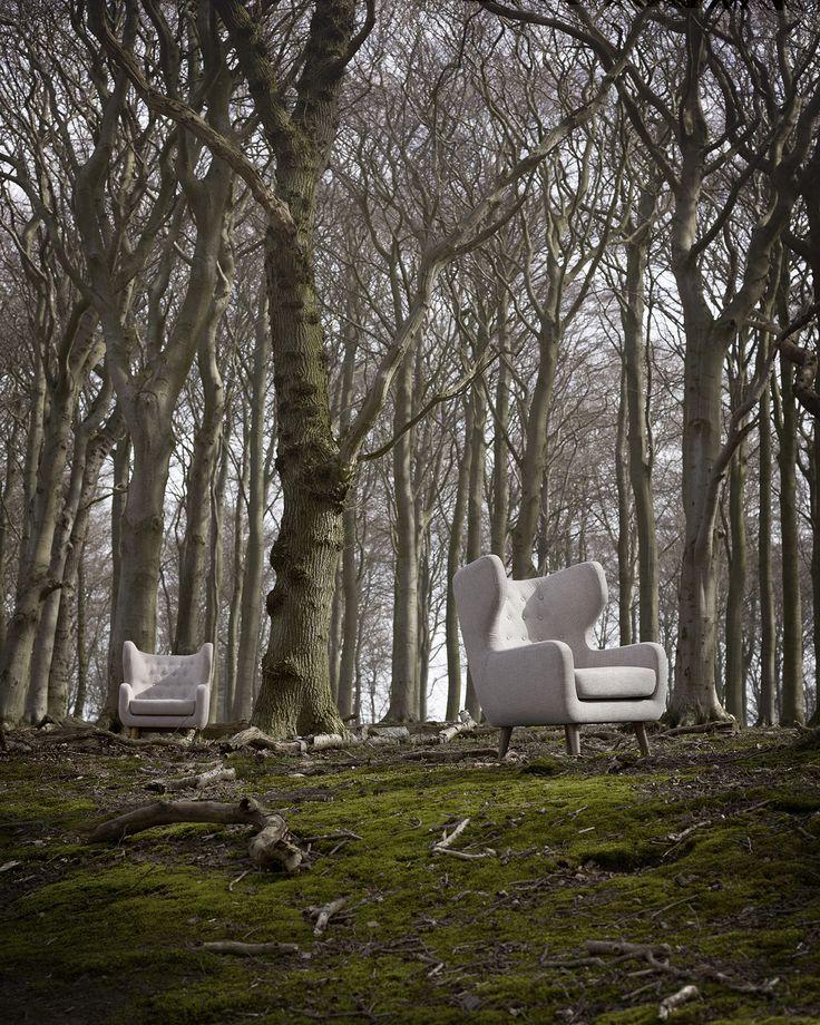 Craig armchair in Merle linen #sofacompany