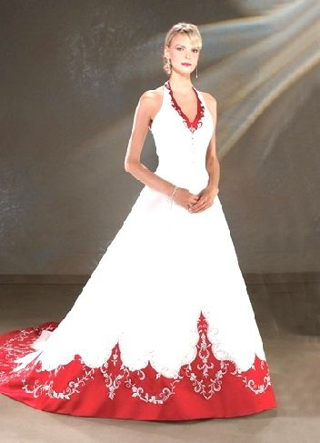 Red And White Wedding Dress Stuff For Tabi Someday