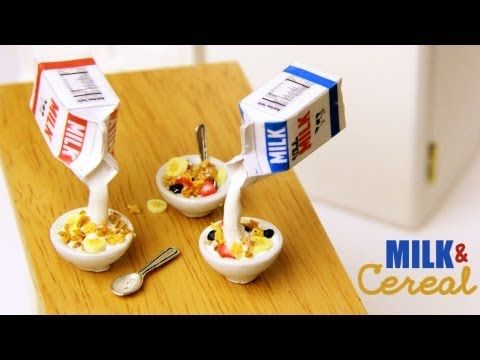 Milk & Cereal - Polymer Clay how to Tutorial. Great to make for your American Girl, Journey Girl, Our Generation, Madame Alexander, or any other Doll. Toni has many amazing tutorials on youtube.